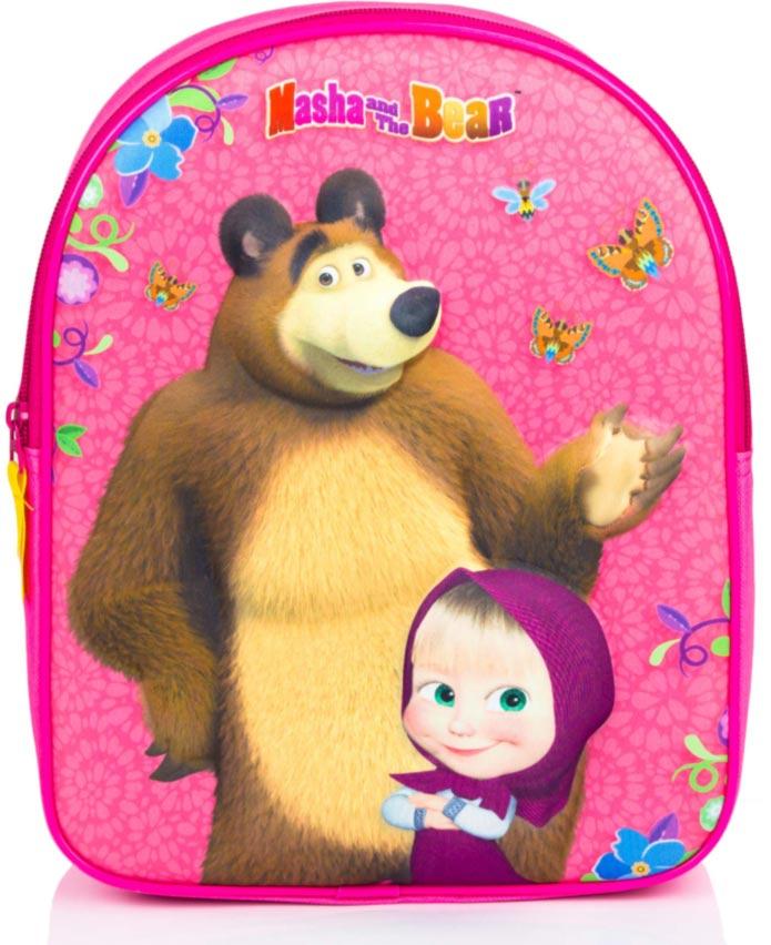 c3c3b4df6b144 3D Batoh Máša a medveď - Ružová farba. detské batôžky ...