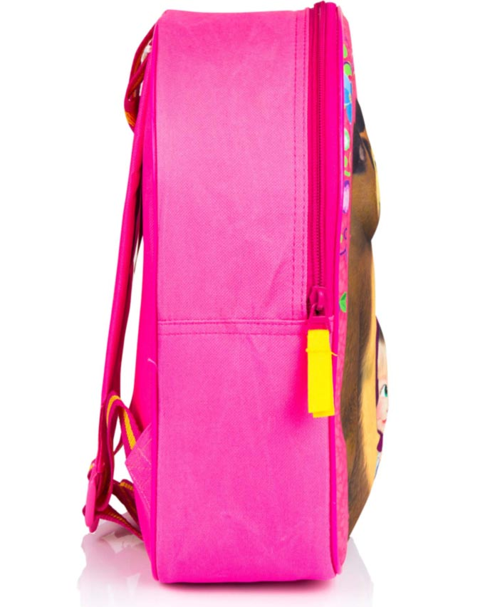 07b9d9a6b4d8f 3D Batoh Máša a medveď - Ružová farba