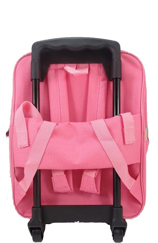 f3a36f13a4f25 Batoh na kolieskach 2 Máša a medveď - Ružová farba