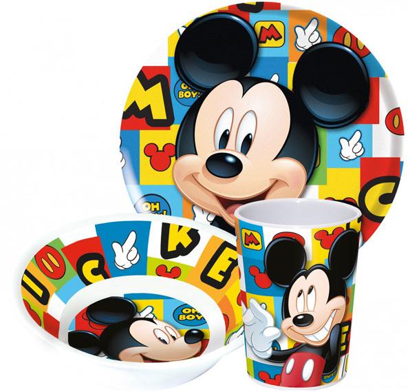 65d94339c Detská jedálenská súprava Mickey Mouse 01 tanierik, miska, pohár, riad,  detský riad do kuchynky, Jedalenske taniere, Taniere, micky maus, mikimaus