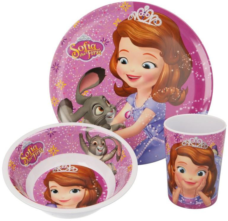 07dc9e6d4019 Detská jedálenská súprava Princezná Sofia Prvá 02 tanierik
