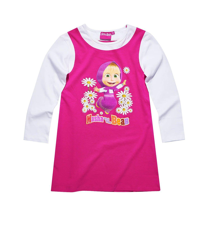 0656e9a96 Nočná košeľa Máša a medveď 1 suprav, šaty, pyžamo, tričko, dlhý rukáv,  oblečenie, pyzama, detske oblecenie