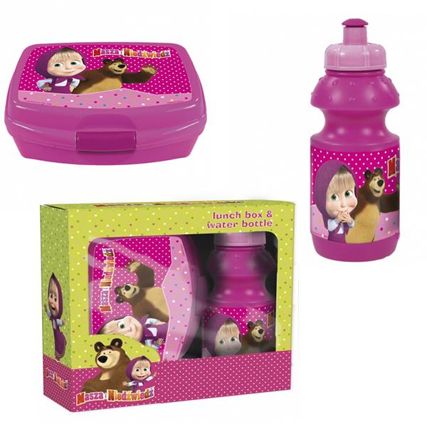 a080880d3c3a2 Darčekové balenie - Box na desiatu s fľašou na pitie Máša a medveď. detské  batôžky, detské batohy ...