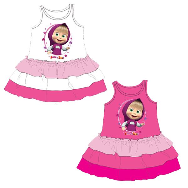 383cdb1b11ff Mášine veselé šaty Máša a medveď - Farba HotPink – Ružová