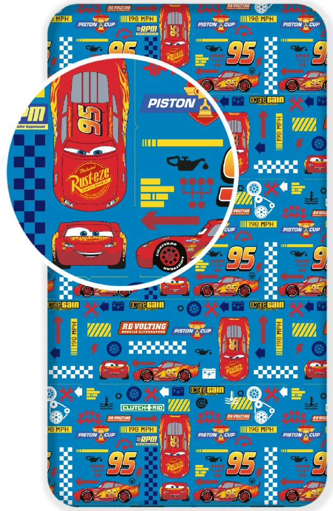 Plachta Cars Blue 02 90x200 cm