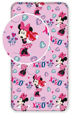 Plachta Minnie Mouse pink 90x200 cm