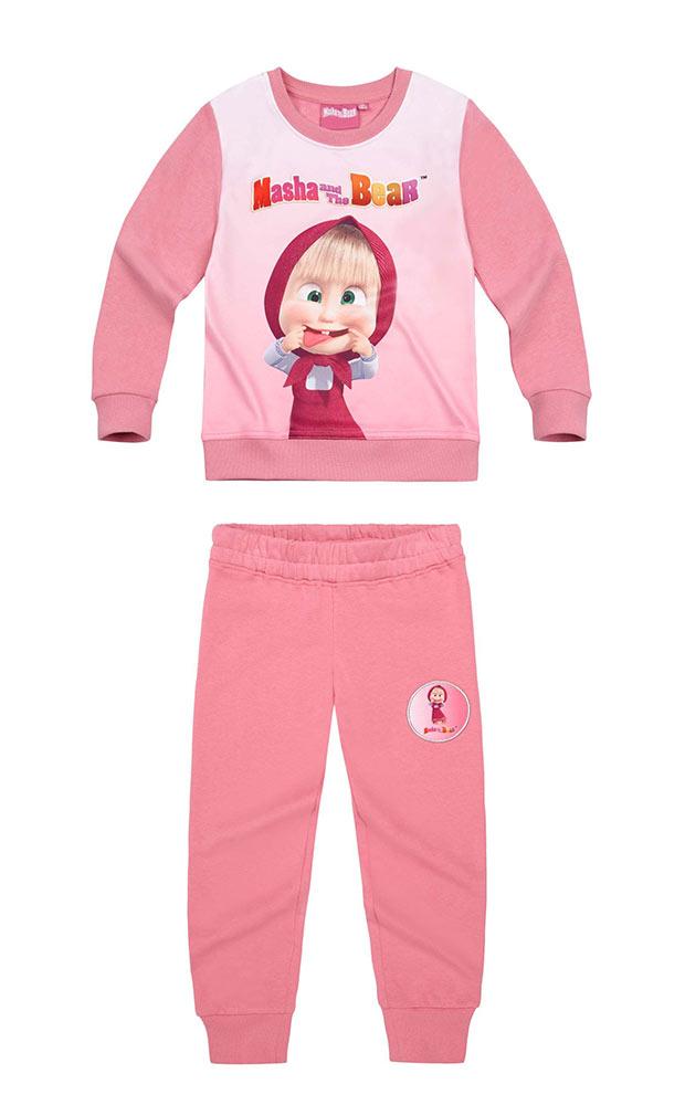 2acc7748af94 Tepláková súprava Máša a medveď 01 - Ružová farba