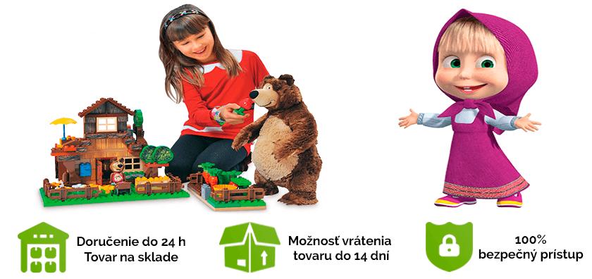 Hračky a obliecky Máša a medveď Míša